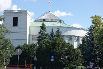 Das polnische Parlament, der Sejm, in Warschau (c) Hauke Fehlberg