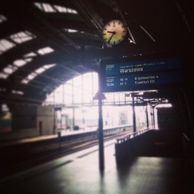 Bahnhof Berlin, Abfahrt nach Polen