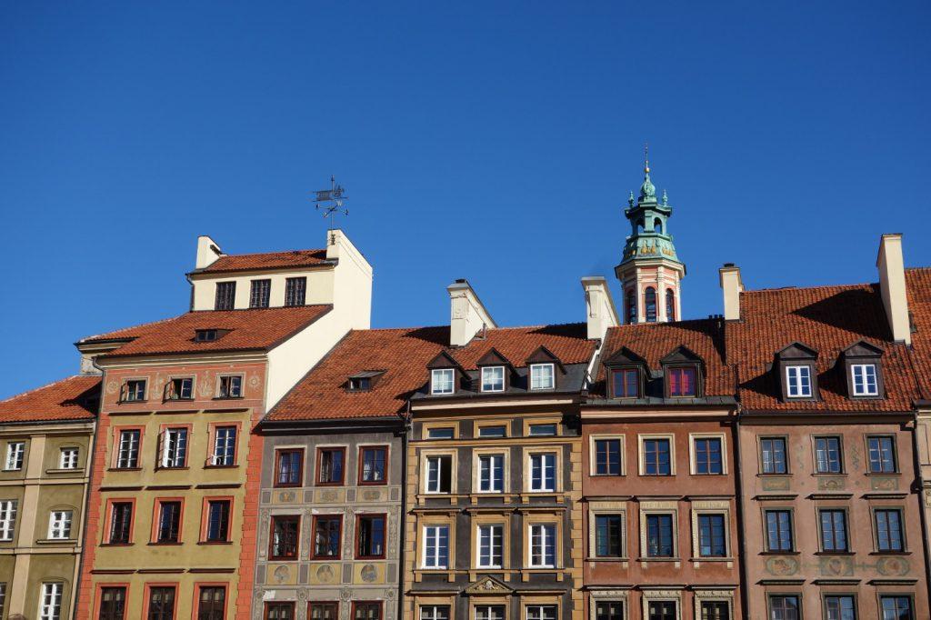 Die Warschauer Altstadt am Hauptmarkt (Foto: Polen.pl)
