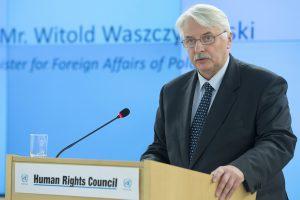 Außenminister Witold Waszczykowski im März 2016 in Genf (flickr / UN Geneva / Jean-Marc Ferré / CC-BY-NC-ND)