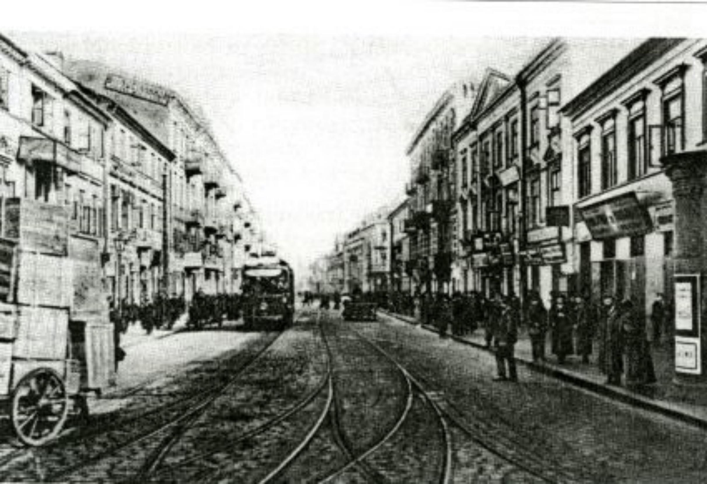 Die Nalewkistrasse Ecke Franciszkanska