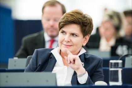 Premierministerin Beata Syzdlo im Januar 2016 im Europäischen Parlament in Strasburg (flickr / EP / CC-BY-NC-ND)