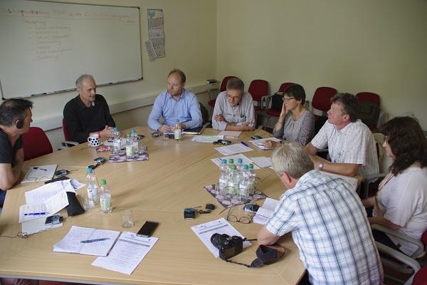 Runder Tisch: Medienvertreter und Verantwortliche der Euroregion Pomerania e.V. kamen zum Pressegepräch zusammen. Foto: Andreas Schwarze (asc)