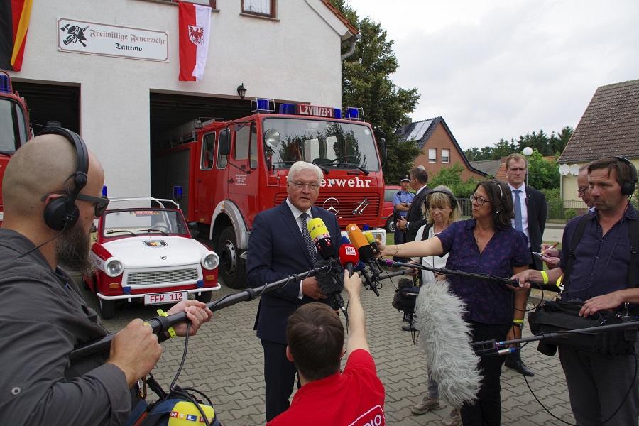 Bundespräsident Frank-Walter Steinmeier zu Besuch an der deutsch-polnischen Staatsgrenze