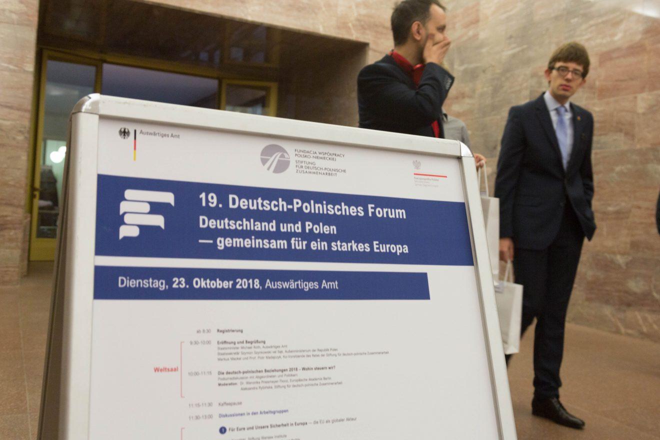 19. Deutsch-Polnisches Forum – viel Bekanntes, wenig Neues
