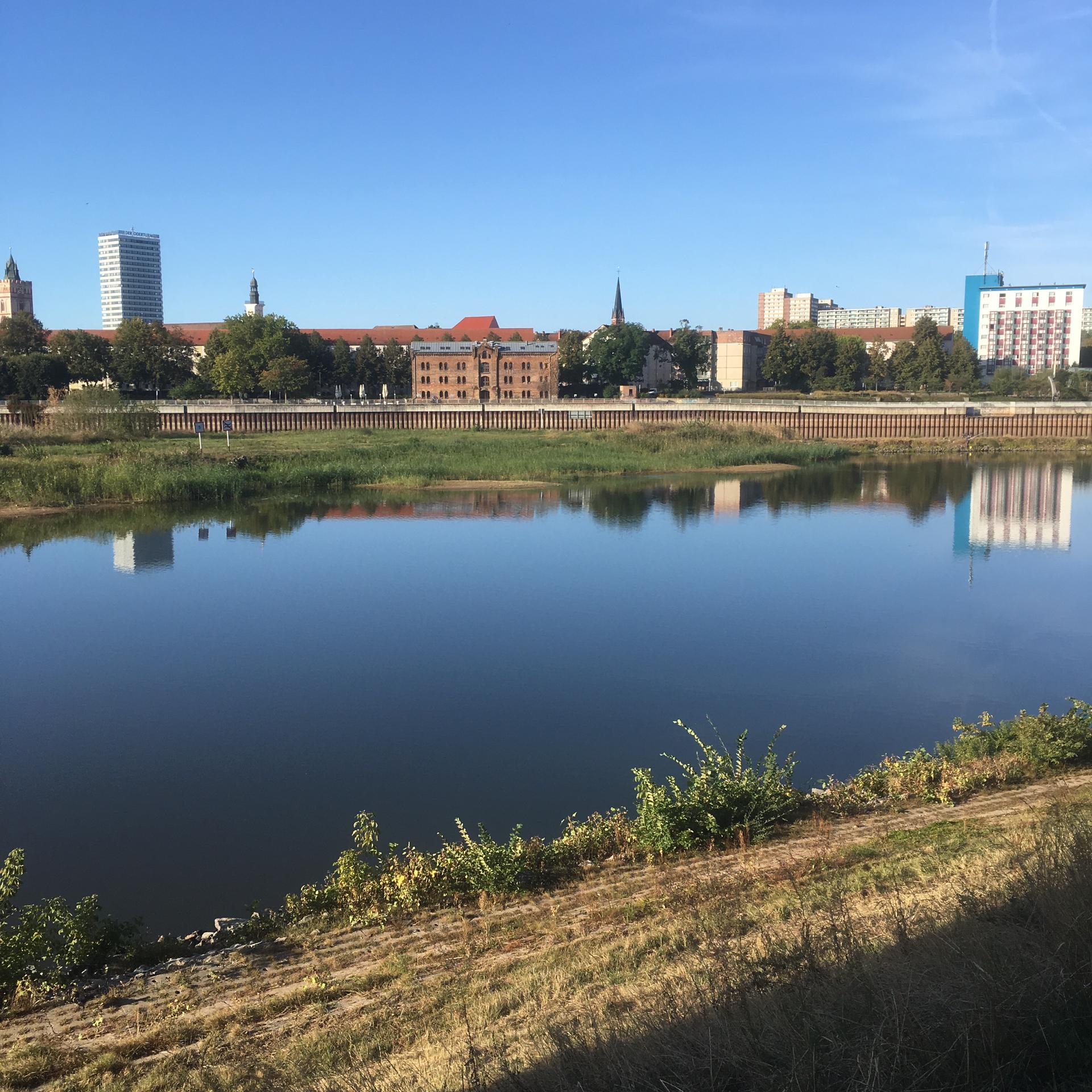 Słubice - Blick auf Frankfurt/Oder