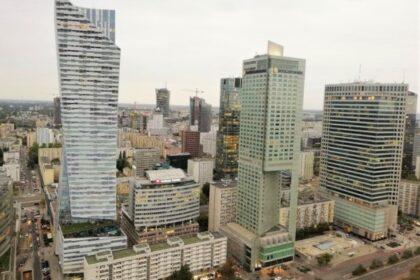Aussicht vom Kulturpalast auf Warschau