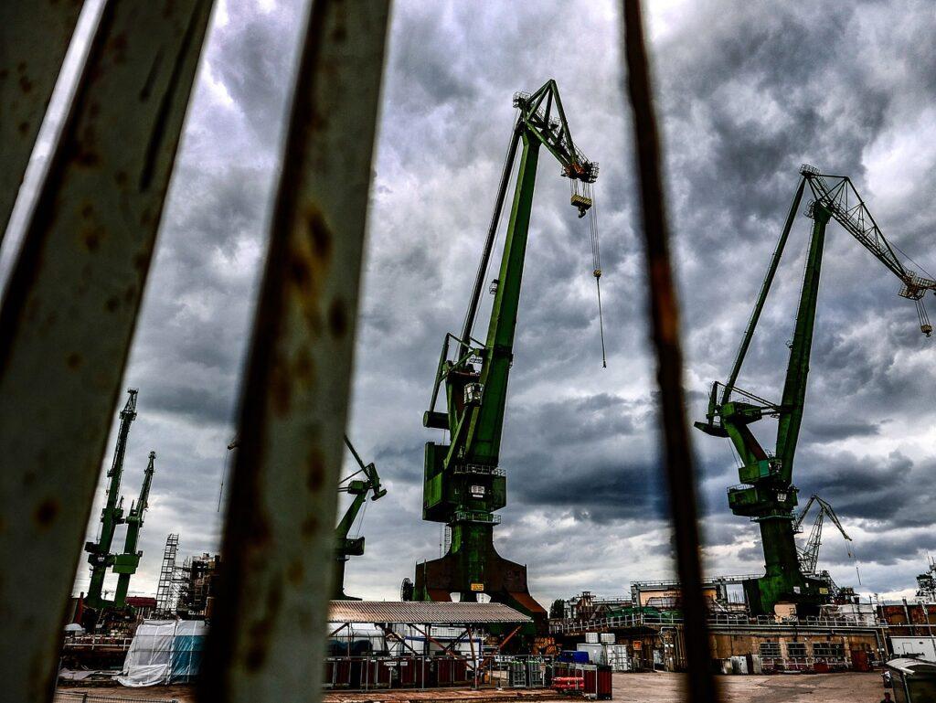 Kräne der Danziger Werft