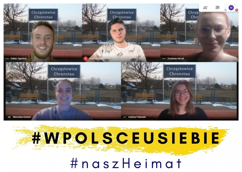Kampagne #InPolendaheim, Quelle: https://www.vdg.pl/de/portal/aktuelles/politik/item/5472-inpolendaheim-jugend-setzt-sich-fuer-kulturelle-vielfalt