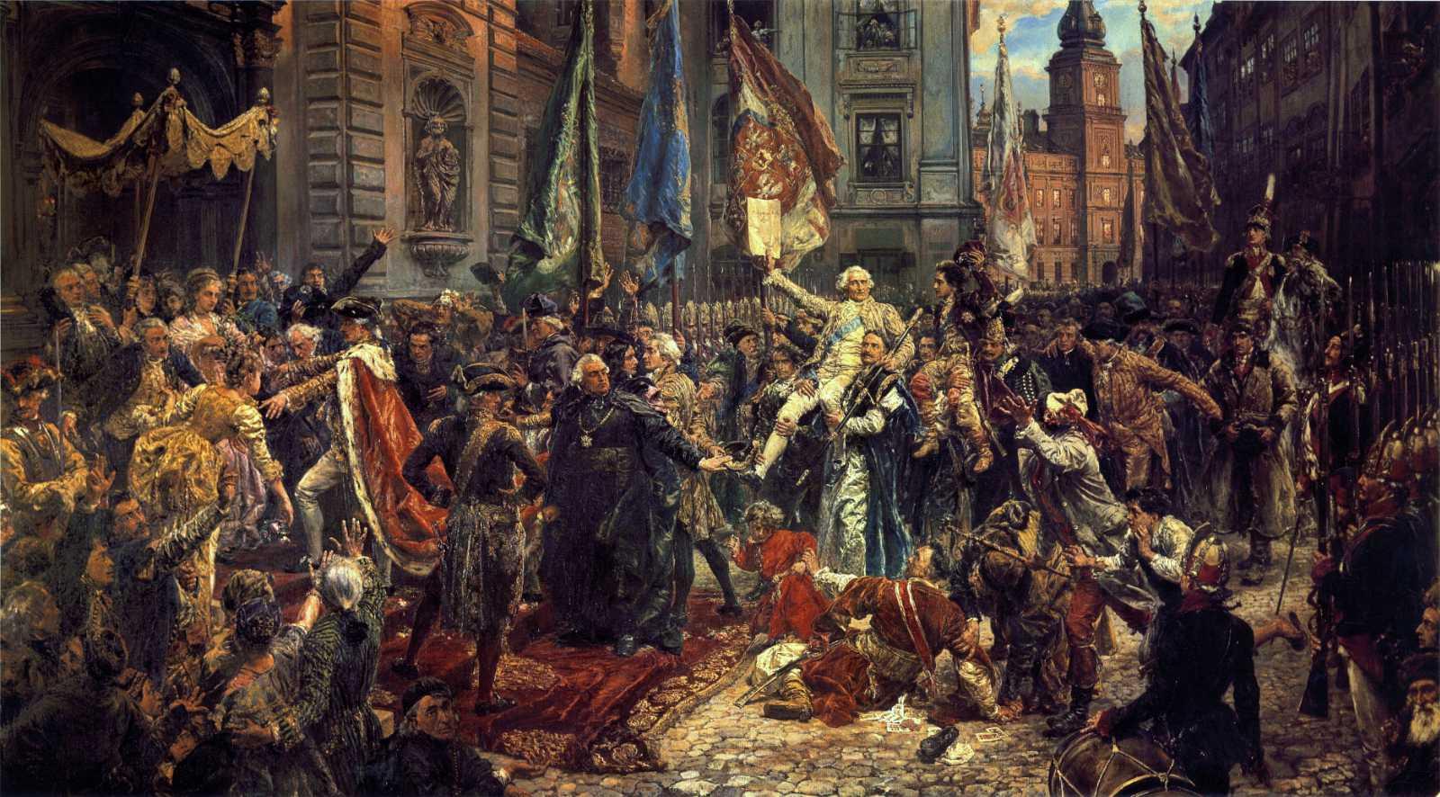 Verfassung vom 3. Mai. Quelle Wikimedia, Konstytucja_3_Maja.jpg